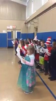 Miss Carlson's class provides entertainment at our November All School Meeting today.  Thank you!