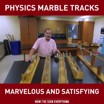 Physics marble tracks ! Marvelous and satisfying....