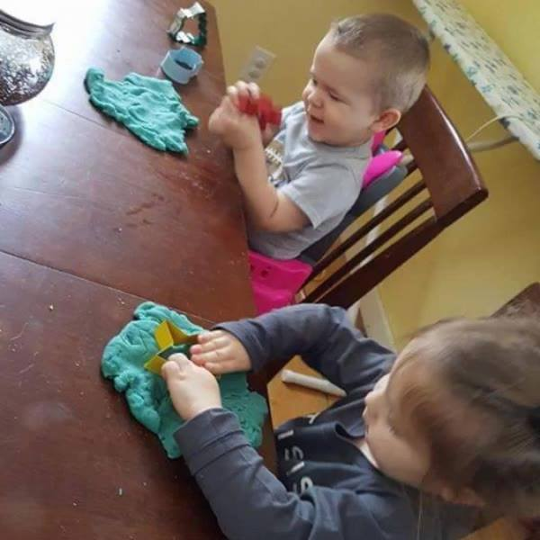 Some play doh on this icy day!