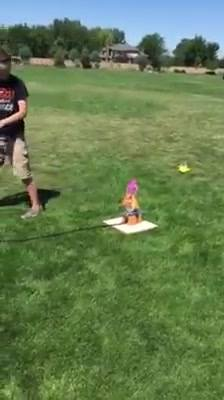 Launching water rockets in the park today with Stoked About Science! Super cool!