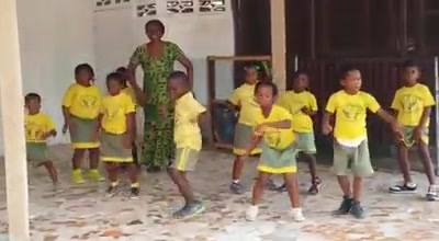 CNC kids learning some new dance steps to perform for their parents