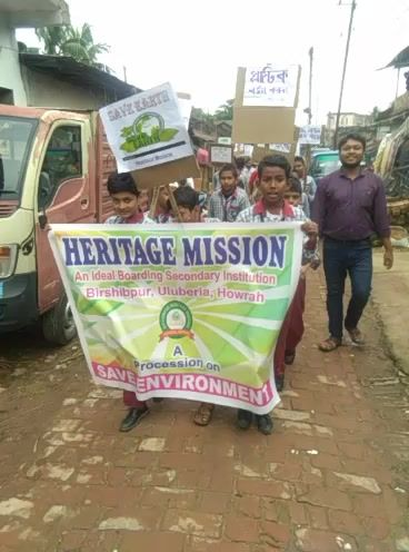 A procession on Save Environment