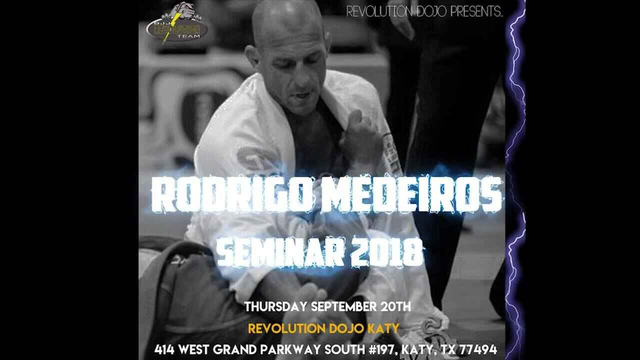 Join us at our brother school Revolution Dojo Katy on September 20th for a seminar with Professor Quan's instructor Rodr...