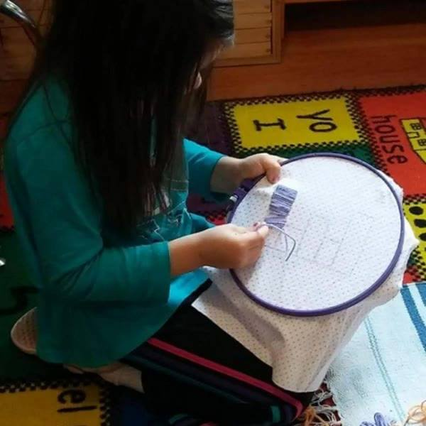 Our big kids made their own almohadas (pillows) to take home! What a group of talented kids!