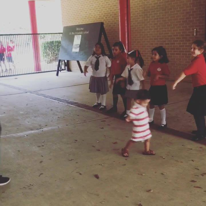 Having fun with mommy at our free dance day!