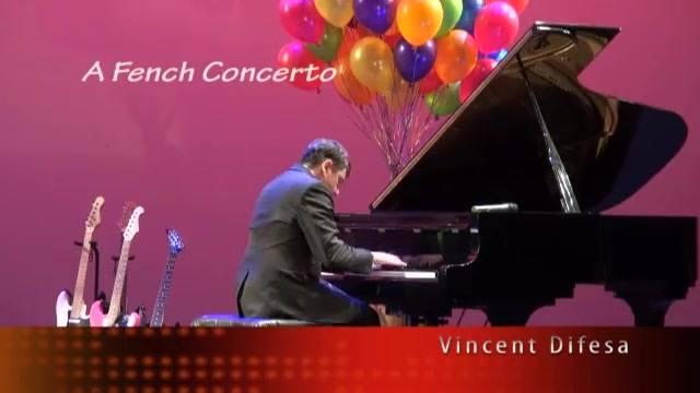 Vincent Difesa (Music Director and piano/Vocal/Guitar teacher) Playing A French Concerto on the Piano.