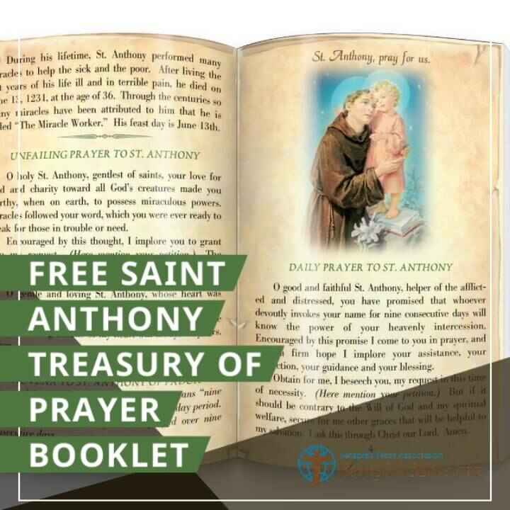 """Saint Anthony of Padua is called the """"Wonder Worker"""" because of the many miracles with which God has performed through h..."""