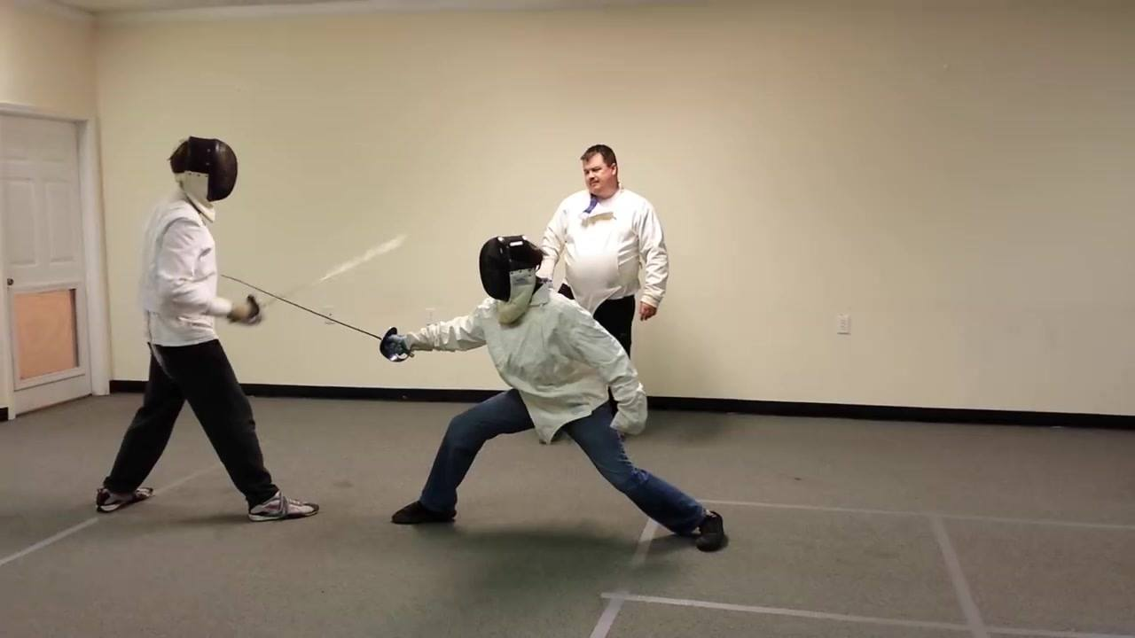 Bobby's first fencing bout ever 02!