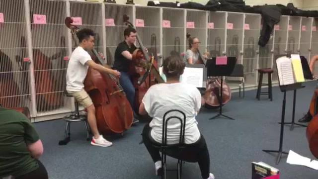Bass Conservatory class already sounding pretty awesome on All-State etudes!