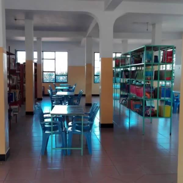 This is our school Library. It is quite young and still growing. We thank our friends at MAD for your support and book d...