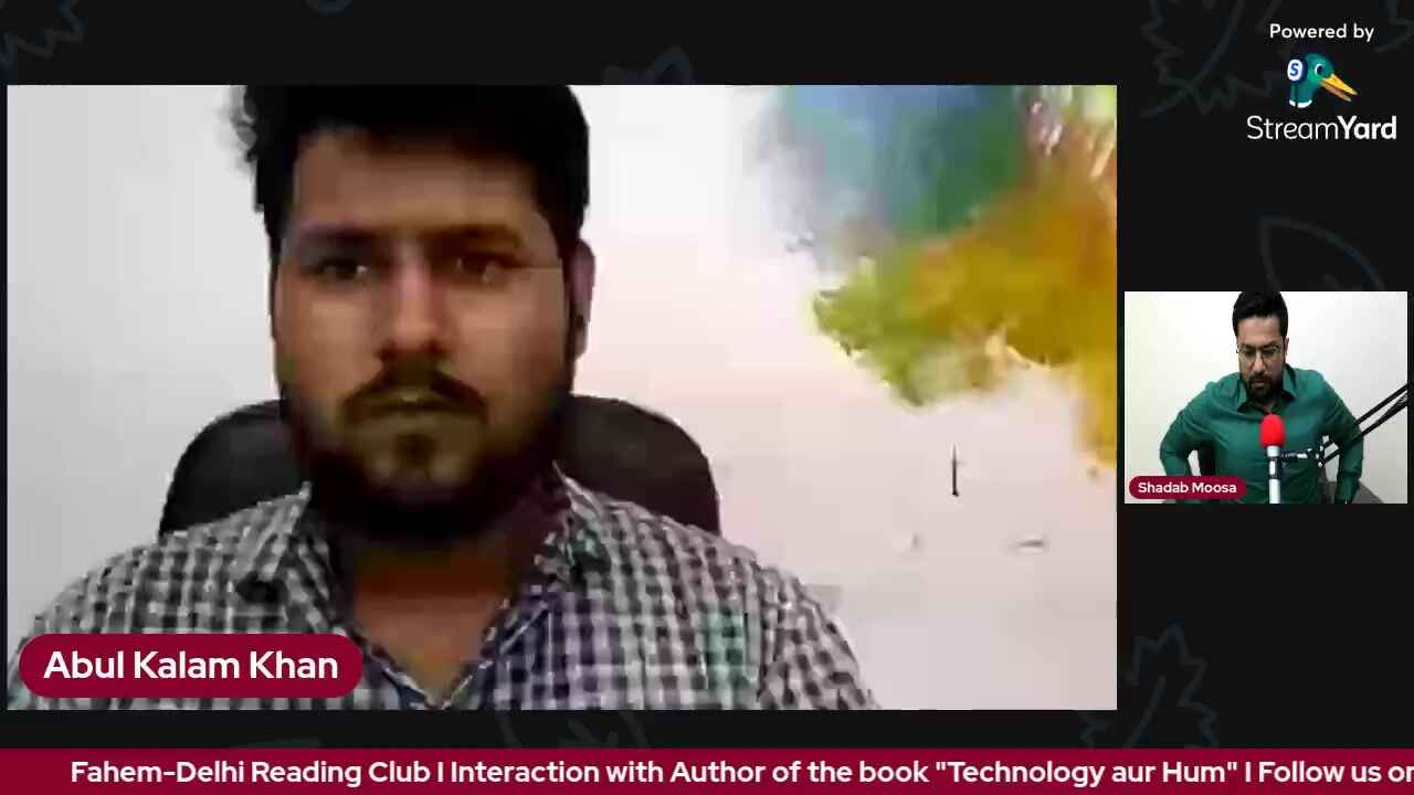 """Interaction with Author of the book """"Technology aur Hum"""""""
