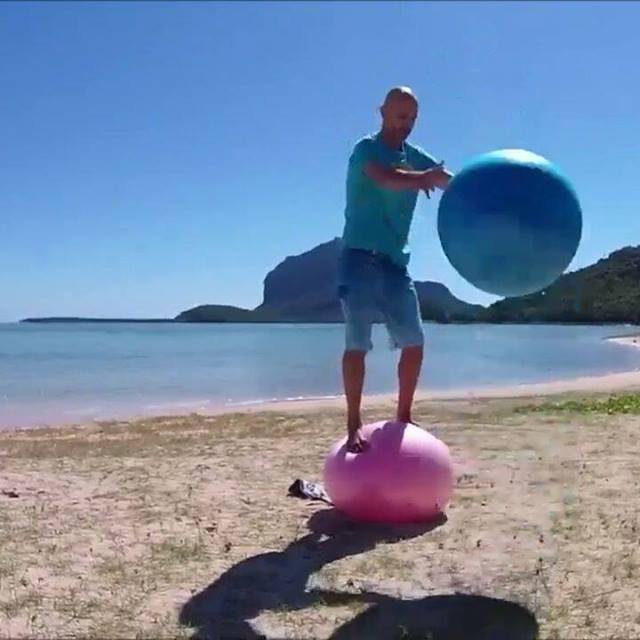 We love surfing. Wind-,kite-, paddle-. This is a great way to improve stability and coordination with fun.